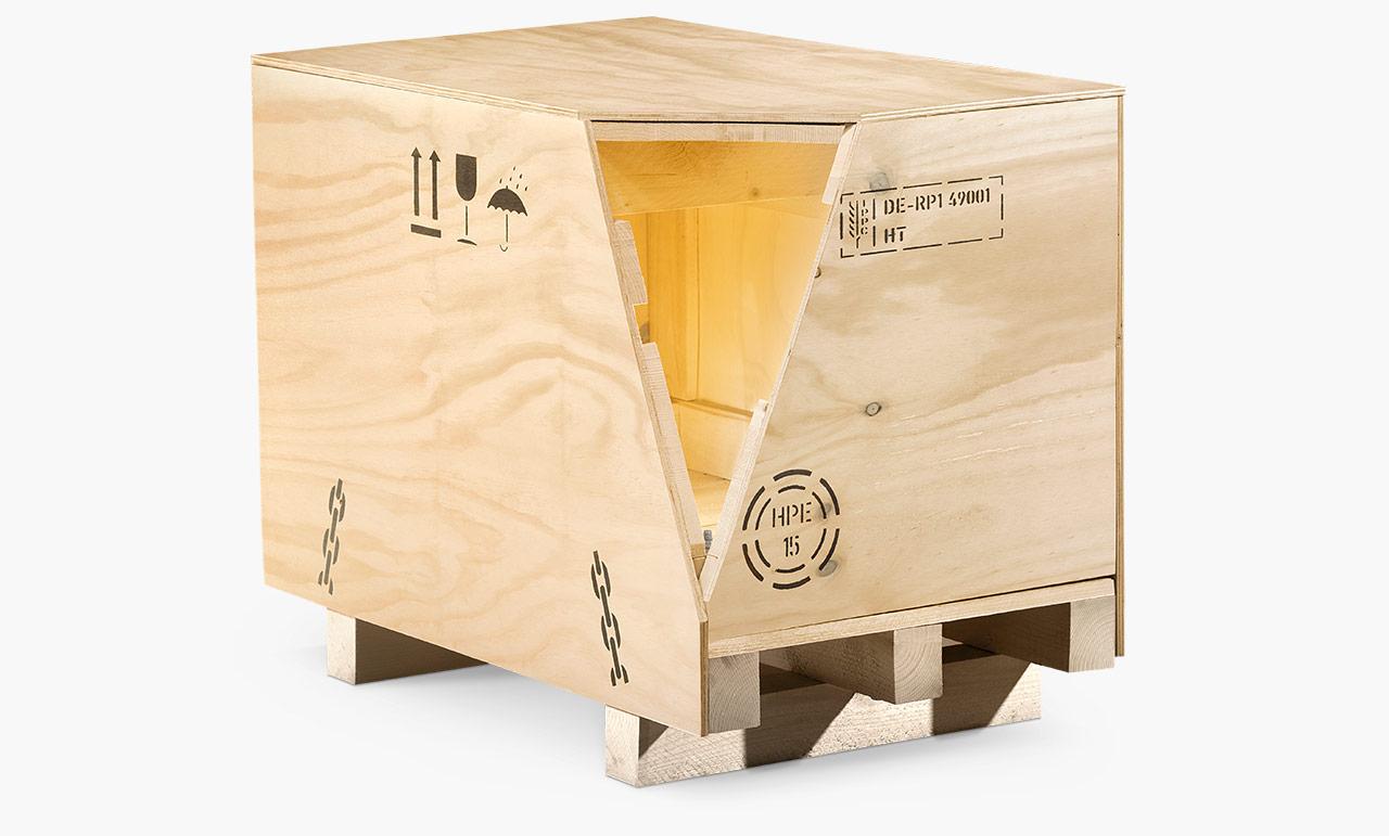 Überseekiste aus Holz