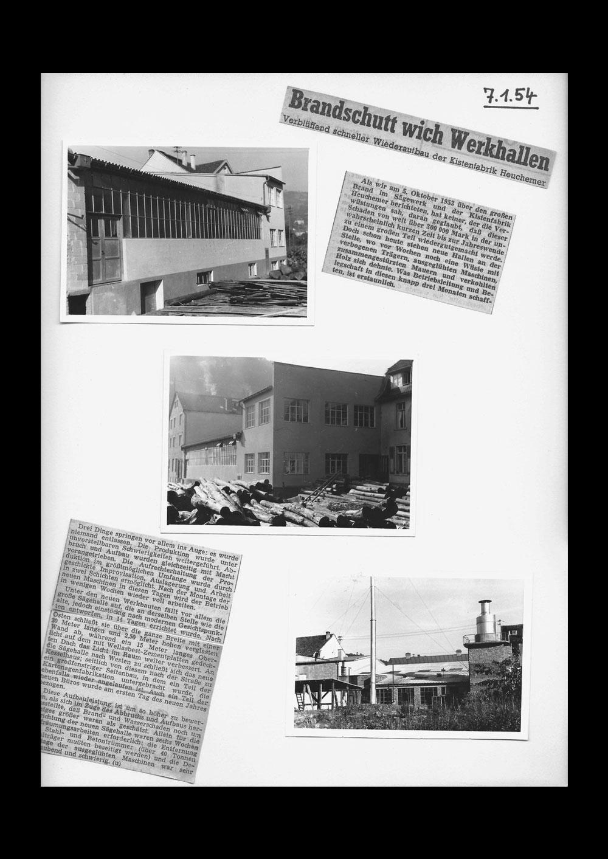 HEUCHEMER VERPACKUNG || Wiederaufbau Kistenfabrik Bad Ems 1954 - Zeitungsausschnitte