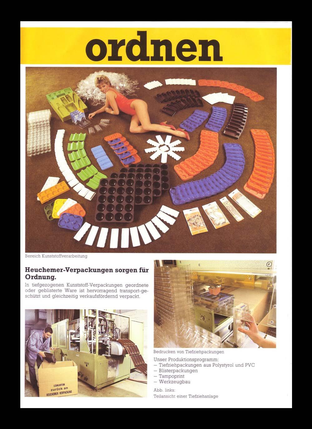 HEUCHEMER VERPACKUNG || Anzeigenwerbung 1970 - Verpackungen aus Kunststoff