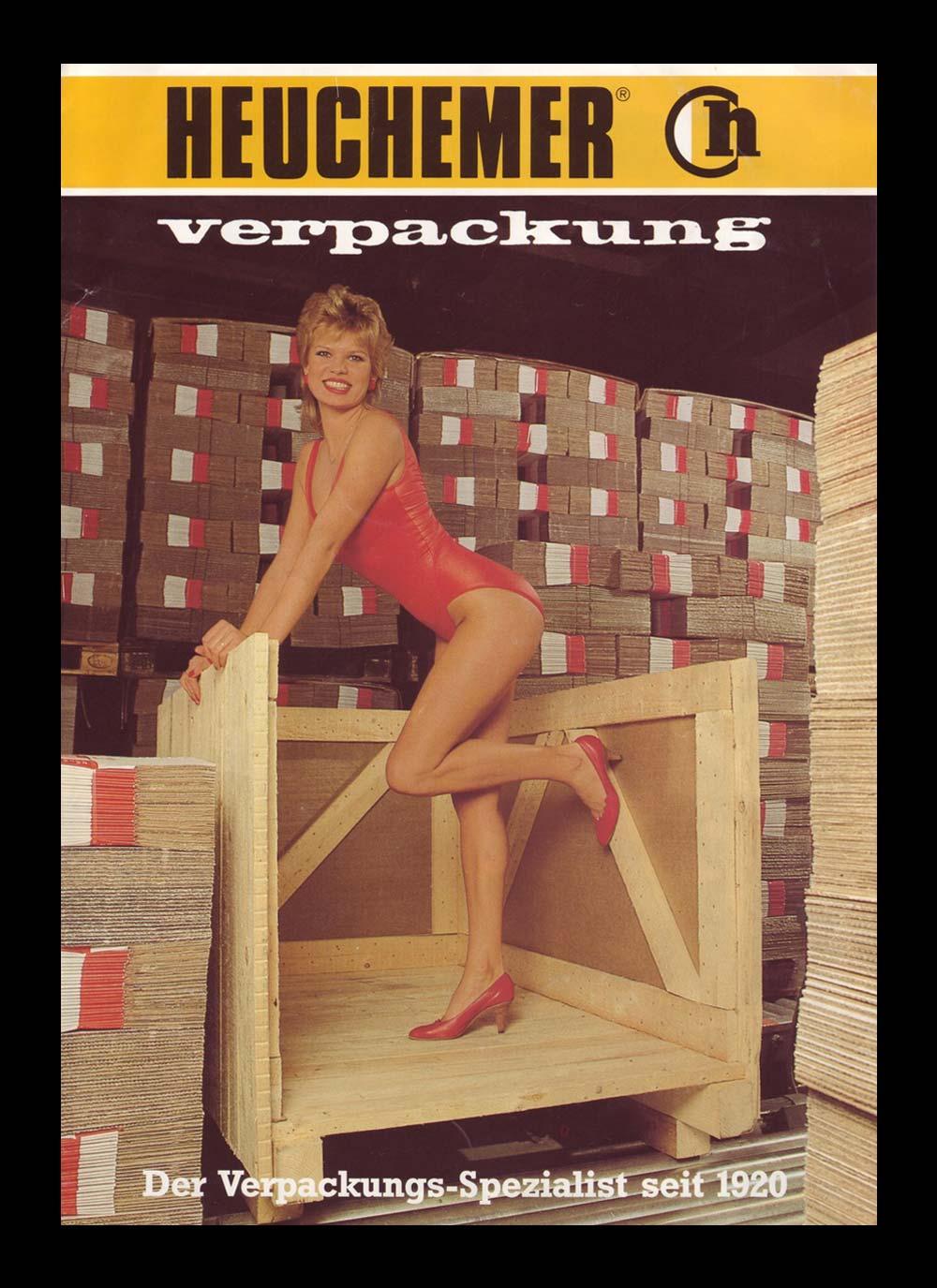 HEUCHEMER VERPACKUNG || Anzeigenwerbung 1970 - Wellpappe und Holz Verpackungen