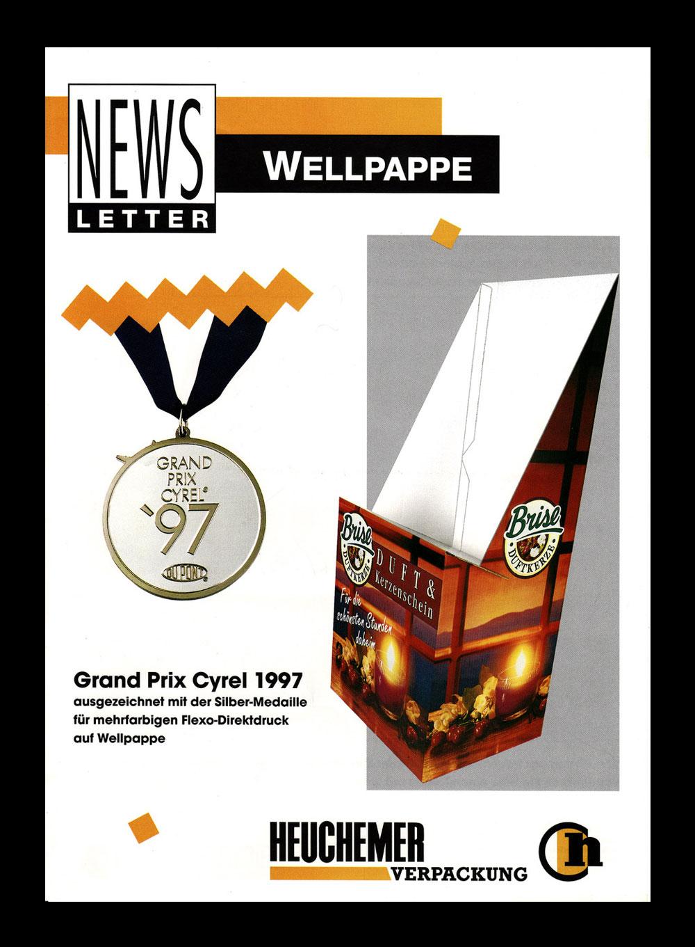 HEUCHEMER VERPACKUNG || Grand Prix Cyrel 1997 - Silber-Medaille Flexodirektdruck auf Wellpappe